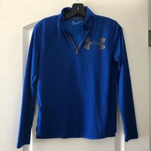 Under Armour Boys Texture Tech 1/4 Zip Long Sleeve